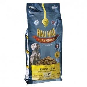Hau-Hau Champion Koiranruoka 15kg Kana-Riisi Suurille