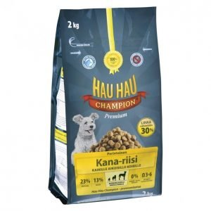 Hau-Hau Champion Koiranruoka 2kg Kana-Riisi