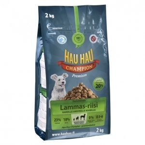 Hau-Hau Champion Koiranruoka 2kg Lammas-Riisi
