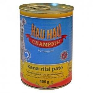 Hau-Hau Champion Koiranruoka 400g Kana-Riisi Patee