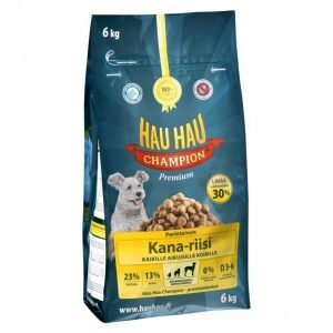 Hau-Hau Champion Koiranruoka 6kg Kana-Riisi