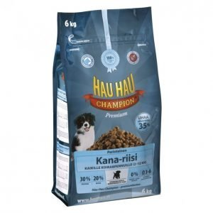 Hau-Hau Champion Koiranruoka 6kg Kana-Riisi Pennulle