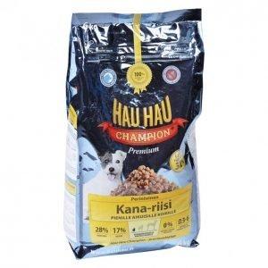 Hau-Hau Champion Koiranruoka 6kg Kana-Riisi Pienille Koir