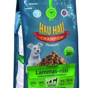 Hau-Hau Champion Lammas-Riisi 2 Kg Koiran Täysravinto
