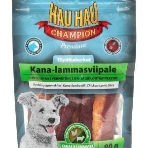Hau-Hau Champion Täyslihaherkut 80 G Kana-Lammasviipale