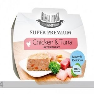 Hau-Hau Super Premium Täysravinto Kanaa Ja Tonnikalaa Riisillä 3x100g
