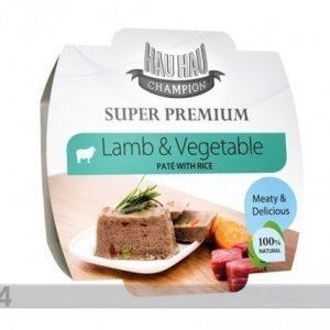 Hau-Hau Super Premium Täysravinto Lammasta Ja Vihanneksia Riisillä 3x100g
