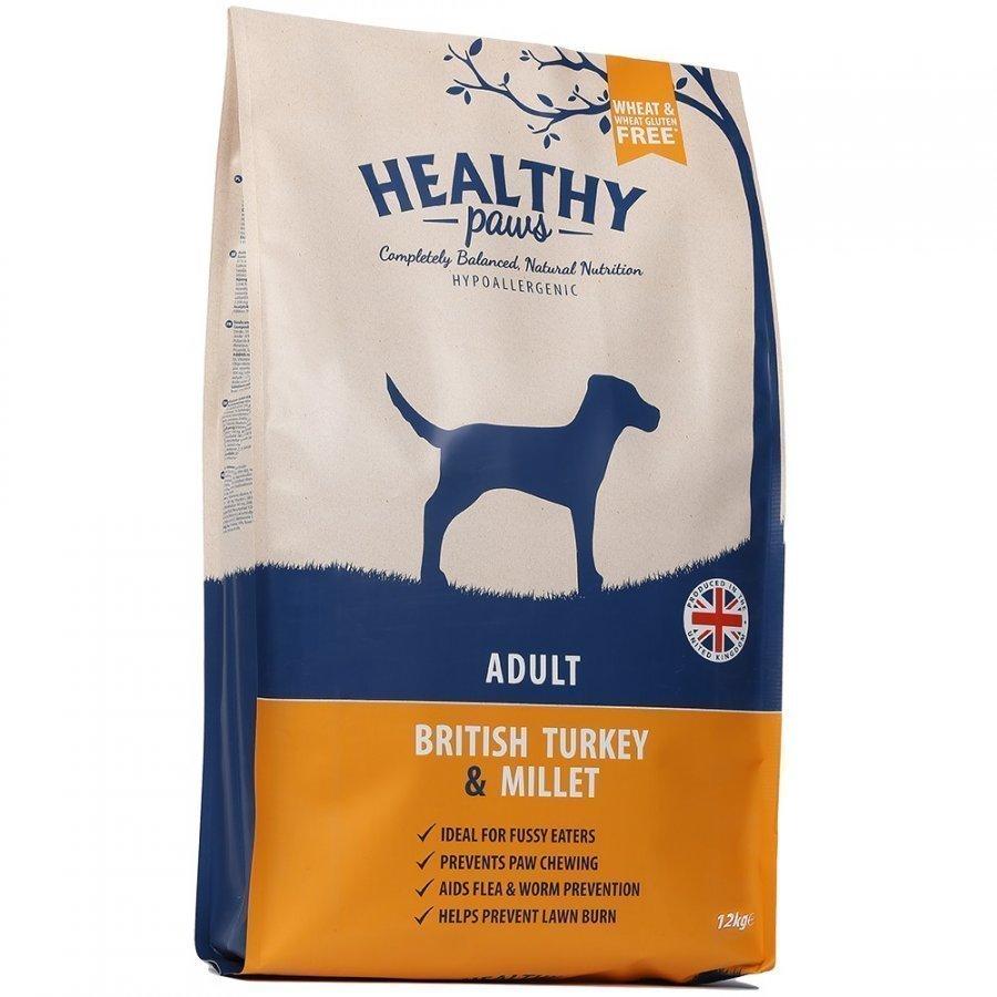 Healthy Paws Dog Adult British Turkey & Millet 12 Kg