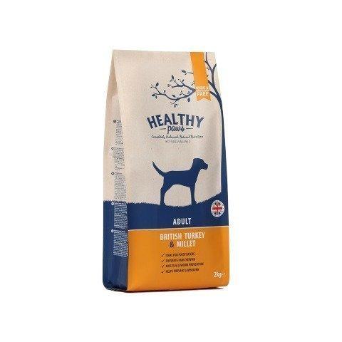 Healthy Paws Dog Adult British Turkey & Millet 2 Kg
