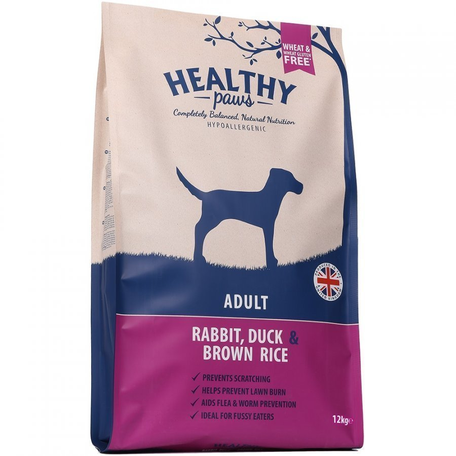 Healthy Paws Dog Adult Rabbit Duck & Brown Rice 12 Kg