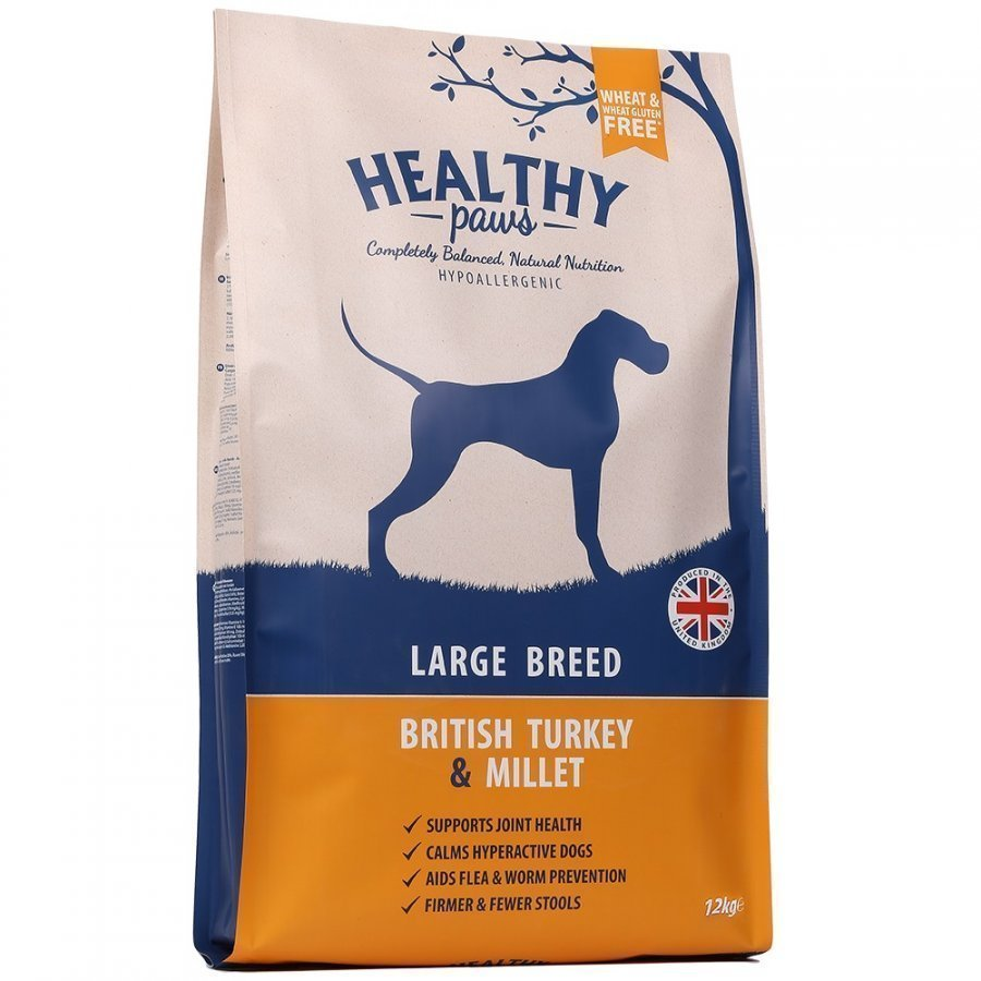 Healthy Paws Dog Adult Turkey & Millet Large Breed 12kg