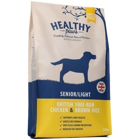 Healthy Paws Dog Senior / Light British Free Run Chicken & Brown Rice 12 Kg