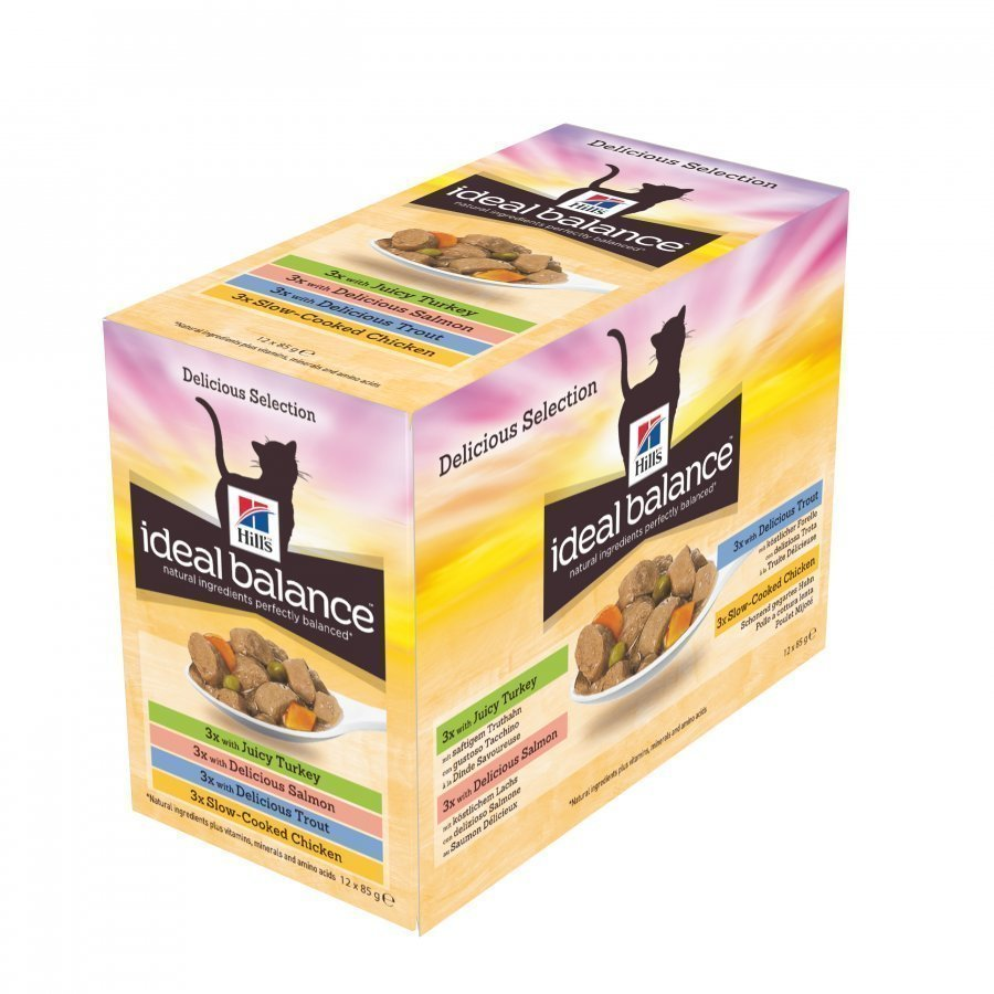 Hill's Ideal Balance Feline Adult Multipack 12x85g