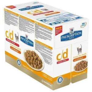 Hill's Prescription Diet Feline C / D Urinary Stress Chicken 12 X 85g