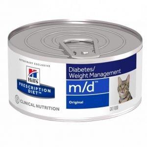 Hill's Prescription Diet Feline M / D Finhackad Burkmat 24x156g