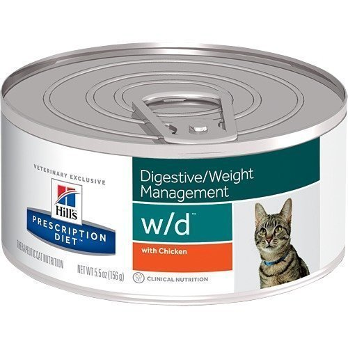 Hill's Prescription Diet Feline W / D Finhackad Burkmat 24x156g