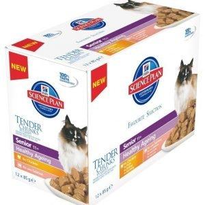 Hill's Science Plan Feline Senior 11+ Healthy Ageing 12x85 G Multipack
