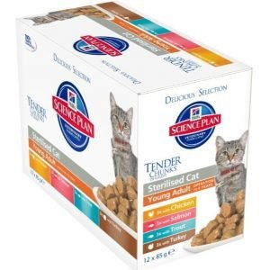 Hill's Science Plan Feline Young Adult Sterilised Delicious Selection 12x85g