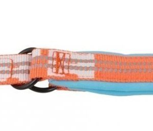 Hurtta Lifeguard Halvstryp Halsband Turkos / Orange 50 60cm