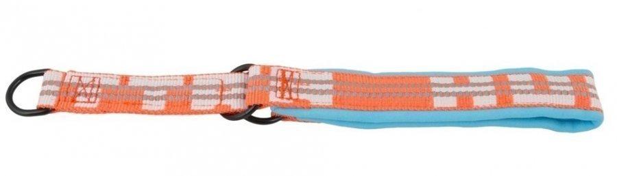 Hurtta Lifeguard Halvstryp Halsband Turkos / Orange 50 60cm