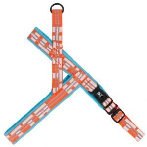 Hurtta Lifeguard Vadderad Sele Turkos / Orange 80cm