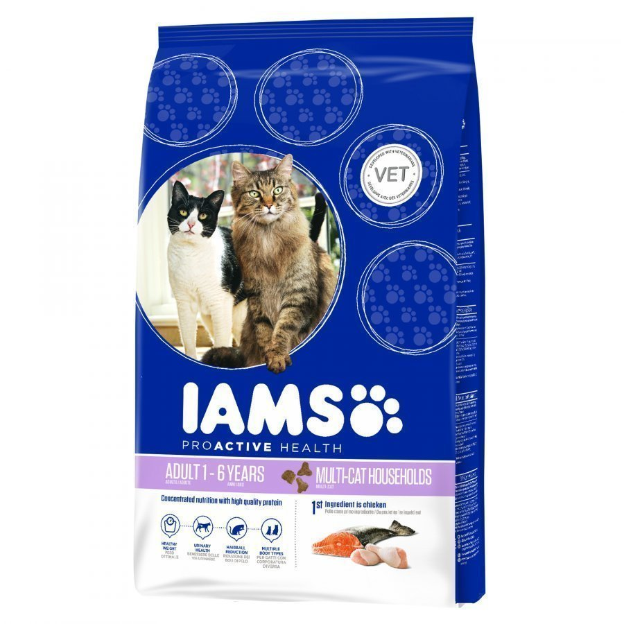 Iams Adult Multi Cat Chicken & Salmon 15kg