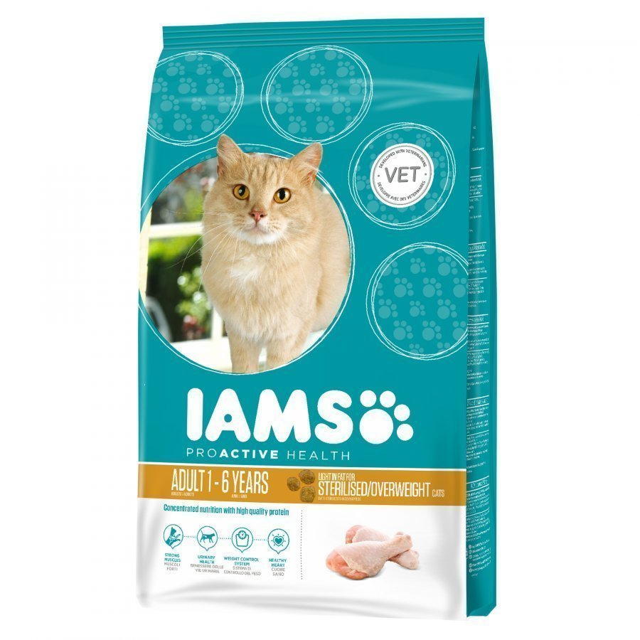 Iams Cat Adult Light In Fat 10 Kg