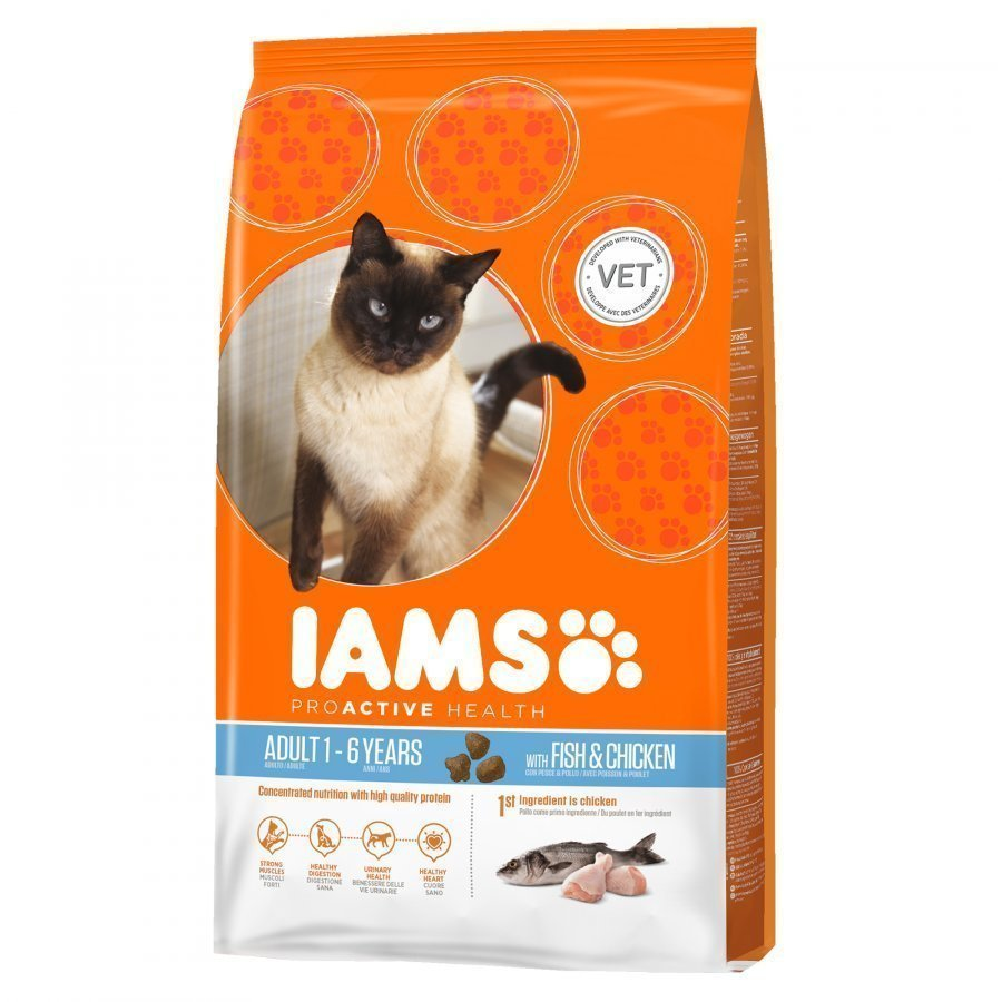 Iams Cat Adult Ocean Fish & Chicken 10 Kg