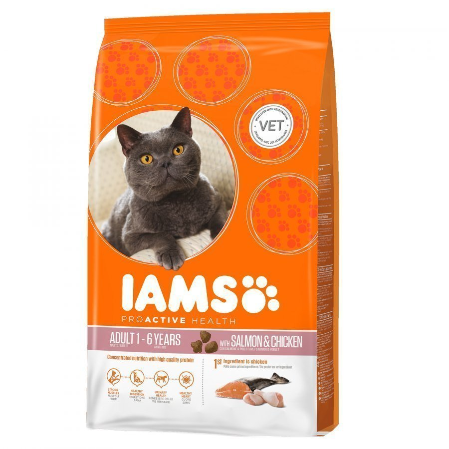 Iams Cat Adult Salmon & Chicken 3 Kg