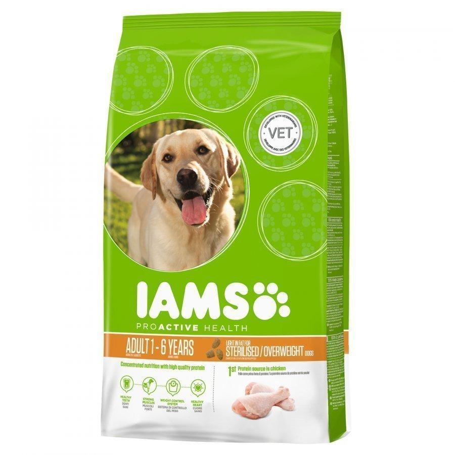 Iams Dog Adult Light Sterilised / Overweight 12 Kg