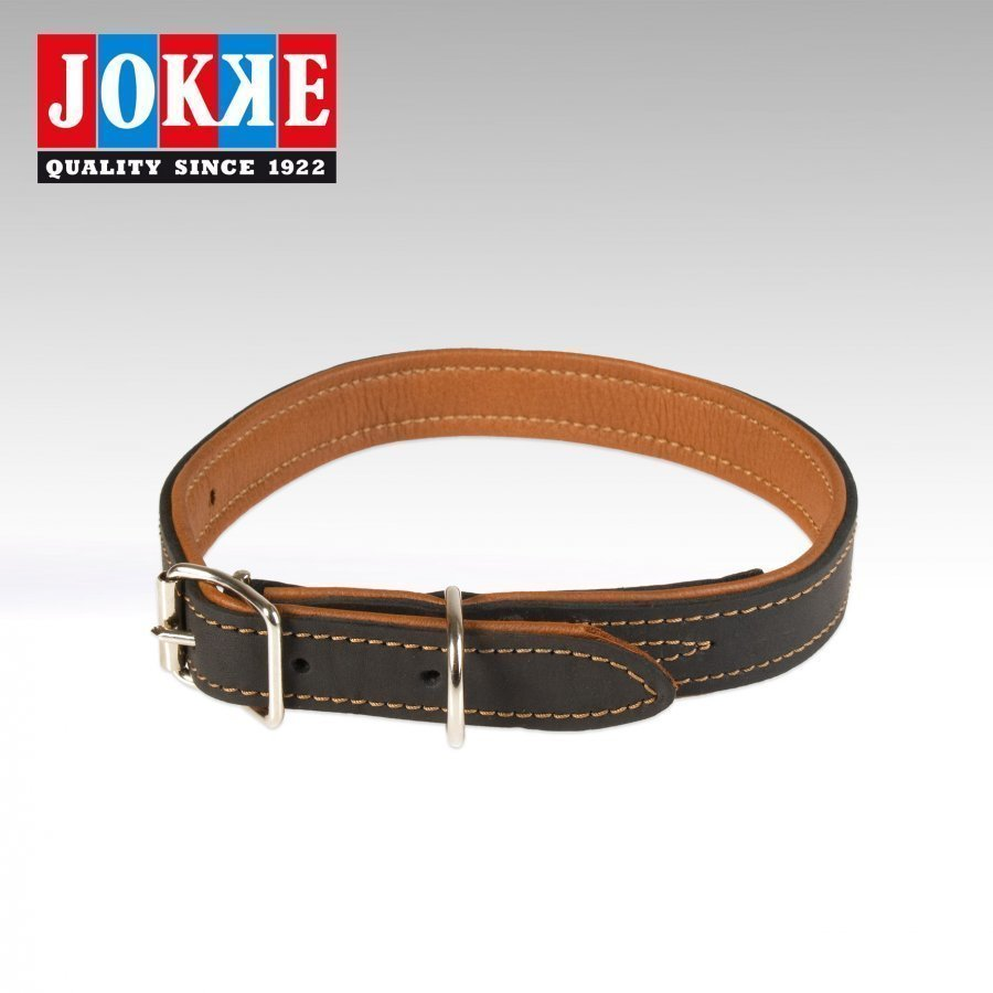 Jokke Boa Halsband Svart 44 59 Cm / 25 Mm