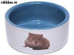 Keraaminen Kulho Hamsteri Valkoinen / Sininen 8