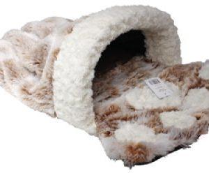 Kissan Tassukuvioinen Pussi Ruskea / Beige 68x44 Cm