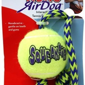 Kong Air Squeaker Tennispallo + Nuora
