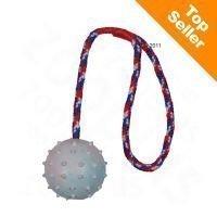 Kumipallo heittokahvalla - pallon halkaisija 6 cm