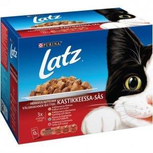 Latz Kissanruoka 12x100g Herkkulajitelma Kastike
