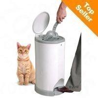 Litter Champ -kissanhiekkaroskis - setti: roskis & 3 kpl uudelleentäyttöpussia