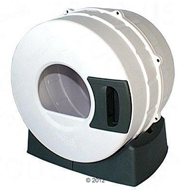 Litter Spinner -kissanvessa - valkoinen/tummanharmaa