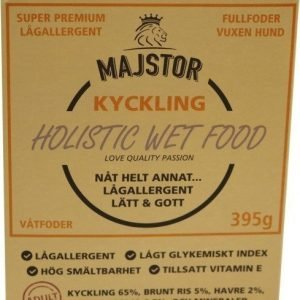 Majstor Dog Adult Holistic Wet Food Kyckling Tray 10x395g