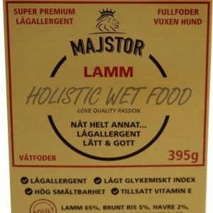 Majstor Dog Adult Holistic Wet Food Lamm Adult Tray 10x395g