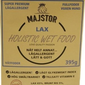 Majstor Dog Adult Holistic Wet Food Lax Tray 10x395g