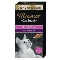 Miamor Cat Confect Malt Cream & Malt Cheese Multibox - 24 x 15 g