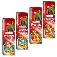 Mixed Pack Versele Laga Prestige Sticks papukaijoille - 4 x 2 kpl (560 g)