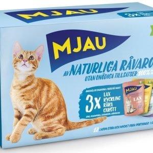 Mjau Multibox Kött & Fisksmak 12 Pack