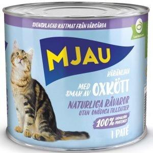 Mjau Paté Med Oxkött 12x635g