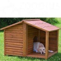 Natura-koirankoppi kuistilla - L-koko: P 130 x L 100 x K 105 cm (*2 pakettia)