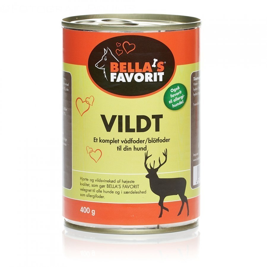 Nature's Peak Bellas Favorit Dog Venison 6x400g