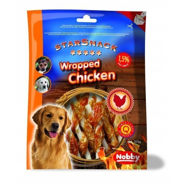Nobby Starsnack Chicken Wrapped 375g
