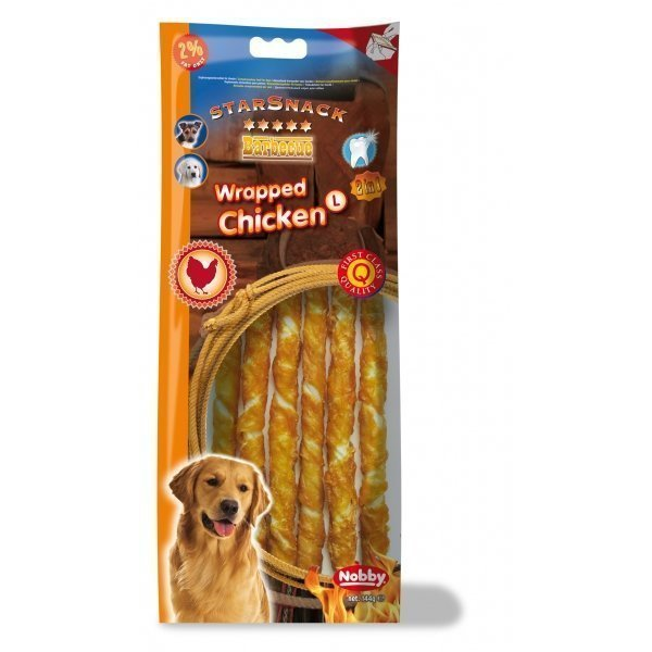 Nobby Starsnack Chicken Wrapped L 144g / 25cm
