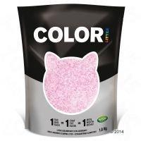 Nullodor Color -kissanhiekka - säästöpakkaus: vaaleanpunainen (3 x 1